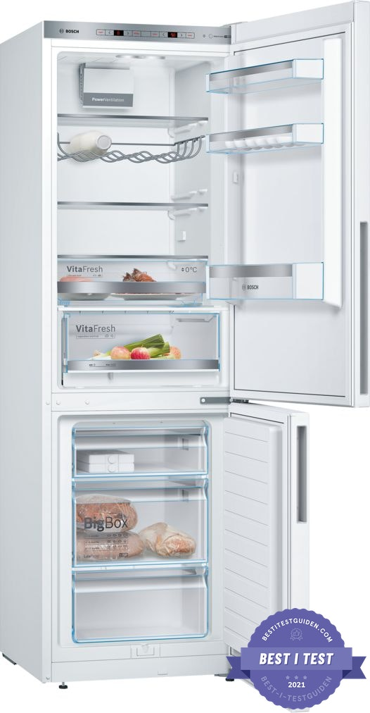 Beste kombi kjøleskap 2020 – Bosch KGE36VW4A