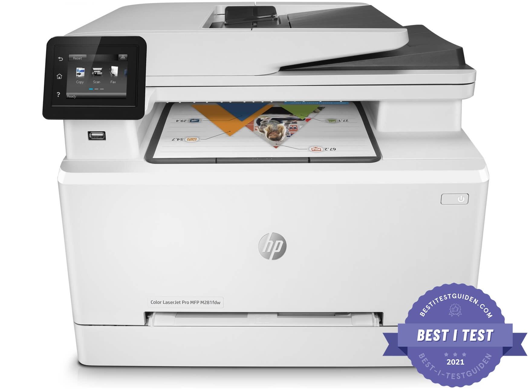 HP Color LaserJet Pro M281fdw - Best i test 2020